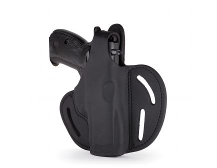 1791 Gunleather BHX-4 Right Hand Glock 17 OWB Thumbreak Holster, Stealth Black - BHX-4-SBL-R