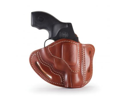 1791 Gunleather RVH1 Right Hand Ruger LCR OWB Holster, Classic Brown - RVH-1-CBR-R