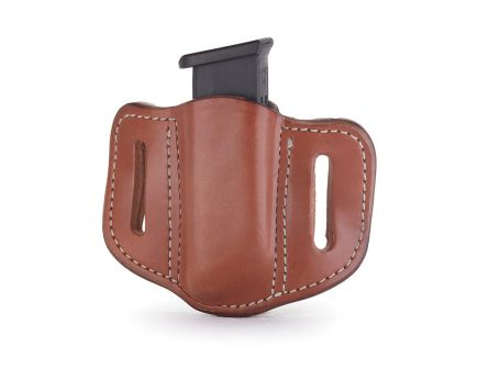 1791 Gunleather MAG1.2 Single Magazine Holster for Double Stack Magazines, Classic Brown - MAG12CBRA