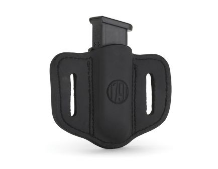 1791 Gunleather MAG1.2 Single Magazine Holster for Double Stack Magazines, Brown on Black - MAG12BLBA