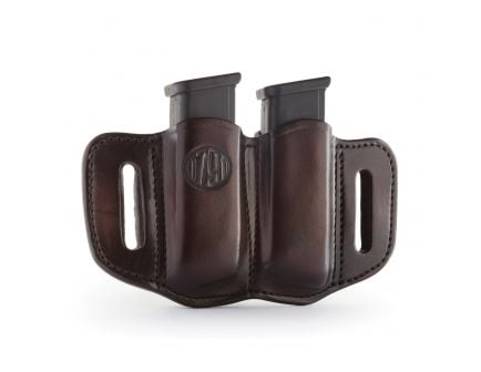 1791 Gunleather MAG2.1 Double Magazine Holster, Signature Brown - MAG21SBRA