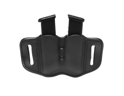 1791 Gunleather MAG F Double Magazine Carrier, Stealth Black - MAGF22SBLA