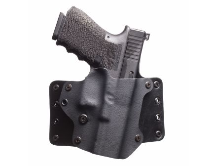 Black Point Tactical Leather Wing Right Hand Glock 26/27 QWB Holster, Textured Black - 100083