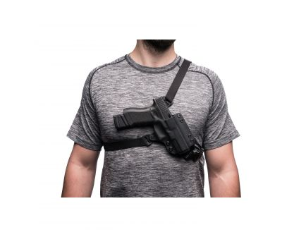 Black Point Tactical Outback Right Hand Glock 43 Chest System Holster, Textured Black - 106085
