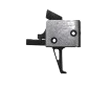 CMC Triggers Single-Stage Drop-in Large Pin Flat Trigger for Mil-Spec AR-15, AR-10 Style Rifles, Black/Silver - 91507