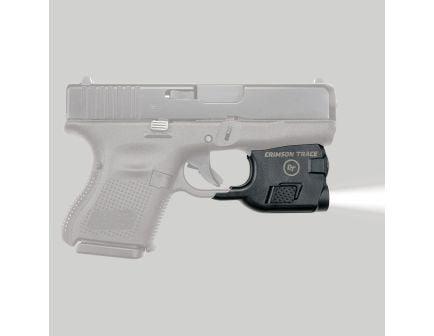 Crimson Trace Lightguard 100 lm White LED Tactical Weapon Light, Black for Glock 26, 27, 33 Pistols - LTG777