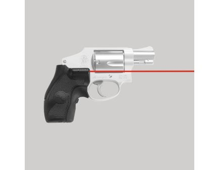 Crimson Trace Front Replacement Laser Grip for S&W J-Frame Round/Compact Butt Revolvers, Black - LG405