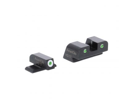 AmeriGlo Classic Self-Luminous 3 Dot Front/Rear Night Sight Set for Springfield XD, XDM Pistols - XD191