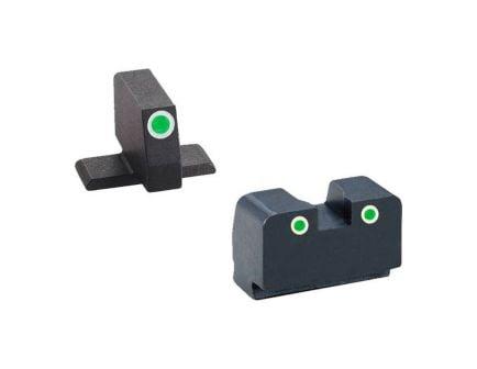 AmeriGlo Suppressor Height 3-Dot Night Sight w/ Tritium Green & White Outline For Springfield - XD181