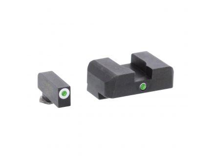 AmeriGlo I-Dot Front/Single Dot Rear Night Sight Set for Glock 20, 21, 29, 30, 31, 32, 36, 41 Pistols - GL102