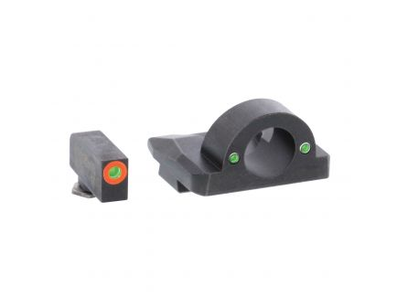 AmeriGlo Ghost Ring Night Sight Set for Glock 20, 21 Pistols, Green with Orange Outline Front, Green Rear - GL226