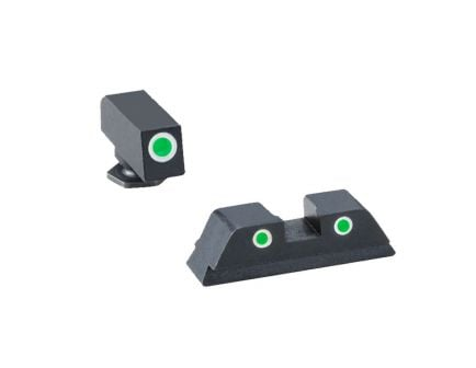 AmeriGlo Classic 3-Dot Night Sight Set w/ Tritium Green & White Outline For Glock - GL5113