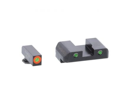 AmeriGlo Spartan Operator 3 Dot Front Night Sight Set for Glock (Gen 5) 17, 19, 19x, 26, 45 Pistols - GL5446