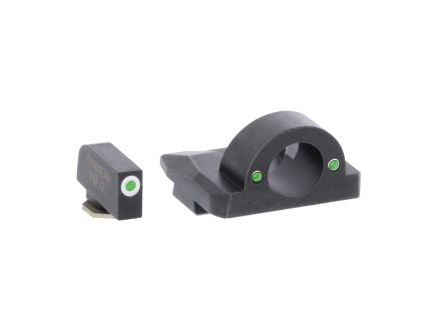 AmeriGlo Ghost Ring Night Sight Set for Glock Gen5 17, 19x Pistols, Green with White Outline Front, Green Rear - GL5125