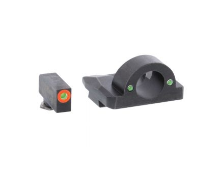 AmeriGlo Ghost Ring Night Sight Set for Glock Gen5 17, 19x Pistols, Green with Orange Outline Front, Green Rear - GL5225