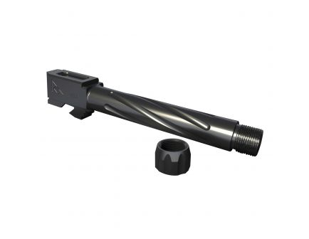 Rival Arms 9mm Drop-in Standard Barrel for Glock 17 Pistol, Graphite PVD - RA20G101B