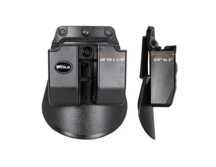 Fobus Double Magazine Pouch for Glock 36 Magazine, Black - 6936GNDP