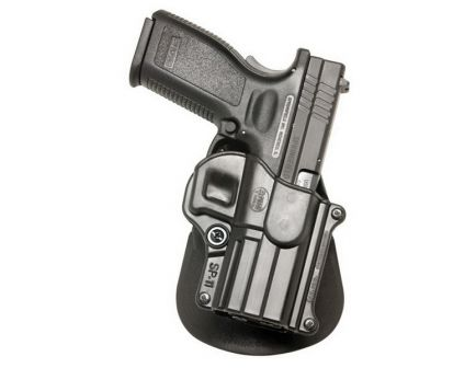 Fobus Standard Right Hand Springfield XD/XD(M) Holster, Paddle Mount, Smooth Black - SP11