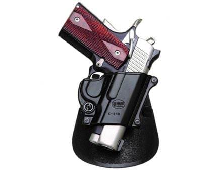 Fobus Compact Right Hand 1911 Style Holster, Smooth Black - C21B