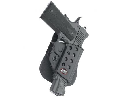 Fobus Evolution Right Hand 1911 Style Holster, Paddle Mount, Smooth Black - R1911