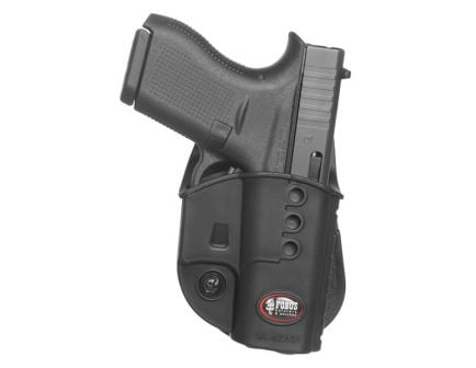 Fobus Evolution Right Hand Glock 42 Holster, Smooth Black - GL42ND