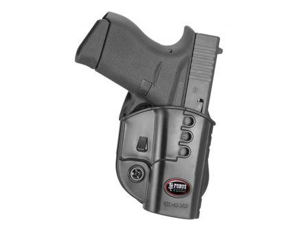 Fobus Evolution Right Hand Glock 43 Holster, Black - GL43ND
