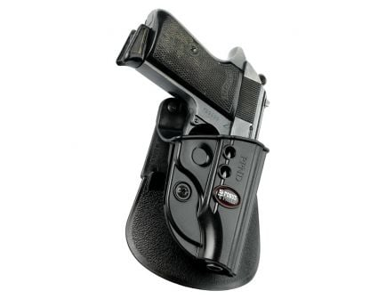Fobus Evolution Right Hand Walther PPK/PPKS Holster, Smooth Black - PPKE2