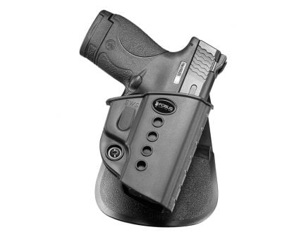 Fobus Evolution Right Hand S&W M&P Shield 9/40 Holster, Smooth Black - SWS