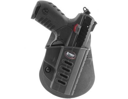 Fobus Evolution Right Hand Ruger Holster, Paddle/Belt Clip Mount, Smooth Black - SR22