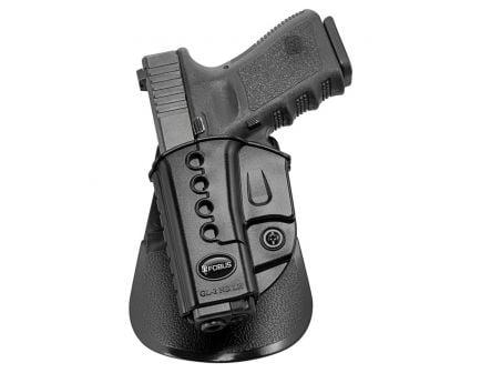 Fobus Evolution Left Hand Glock 23/31/32/34/35 Holster, Smooth Black - GL2E2LH