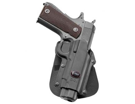 Fobus Standard Right Hand Colt 45 Govt Commander/Officer Holster, Smooth Black - C21RP