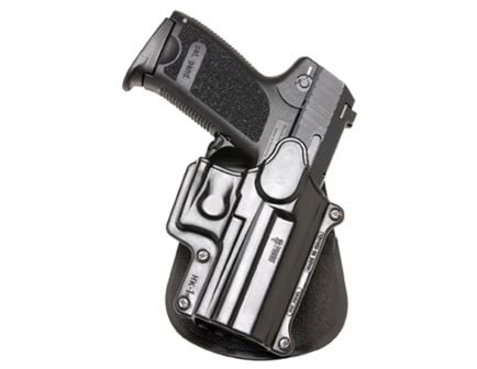 Fobus Standard Right Hand HK USP Compact 9/40/45 Holster, Roto Paddle Mount, Smooth Black - HK1RP