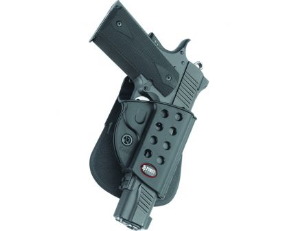 Fobus Evolution Right Hand 1911 Style Holster, Roto Paddle Mount, Smooth Black - R1911RP