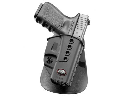Fobus Evolution Left Hand Glock 17/19/22/23/34/35 Holster, Smooth Black - GL2E2RPL