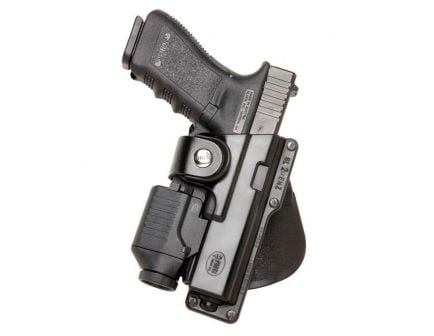 Fobus Tactical Right Hand Glock 17/22/31 Holster, Roto Paddle Mount, Smooth Black - GLT17RP