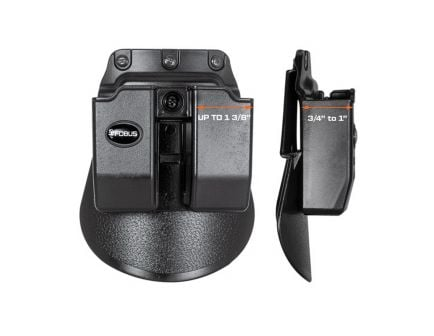 Fobus Double Magazine Pouch for .45 ACP, Black - 6945HP