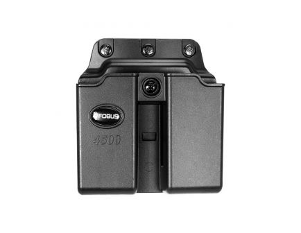 Fobus Double Magazine Pouch for 1911 and .45 ACP Single Stack Magazine, Belt Clip Mount, Black - 4500NDBH