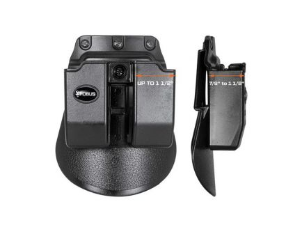 Fobus Double Magazine Pouch for Glock .45 ACP, Black - 6945GNDBH