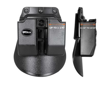 Fobus Double Magazine Pouch for 9mm/.40 (Except Glock), Smooth Black - 6909NDBH