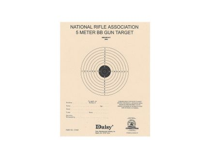 Daisy Outdoor Products Official NRA 5m Bb Target, Tan, 50/pack - 990408-001