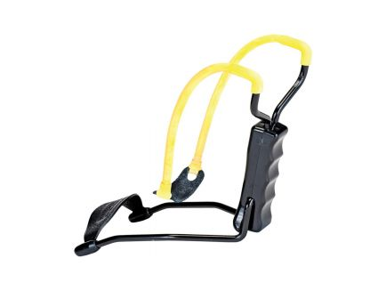 Daisy Outdoor Products Slingshot w/ Flexible Wrist Support, Black/Yellow - B52