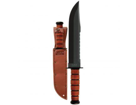 "KA-BAR Big Brother Clip Point Fixed Blade Knife, 9.375"", Brown - 2217"