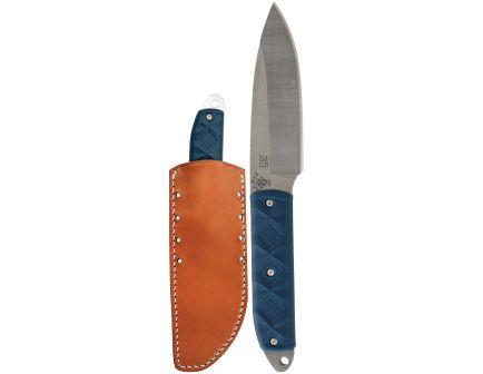 """KA-BAR Snody Boss Drop Point Fixed Blade Knife, 3.5"""", Blue - 5101"""