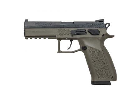 CZ-USA CZ P-09 (Low Capacity) 9mm Pistol, OD Green - 01268