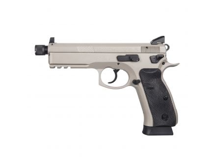 CZ-USA CZ 75 SP-01 Tactical Urban Grey Suppressor-Ready (Low Capacity) 9mm Pistol, Gray - 01253
