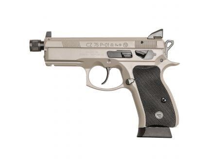 CZ-USA CZ P-01 Urban Grey Suppressor-Ready (Omega) (Low Capacity) 9mm Pistol, Gray - 01299