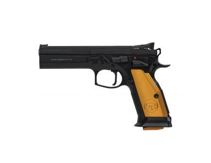 CZ-USA CZ 75 Tactical Sport Orange (Low Capacity) 9mm Pistol, Blk - 01261