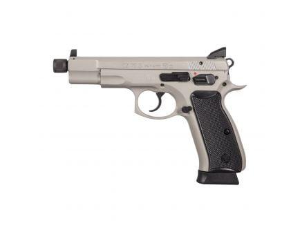 CZ-USA CZ 75 B Urban Grey Suppressor-Ready (Omega) (Low Capacity) 9mm Pistol, Gray - 01235