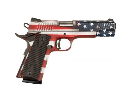 Legacy Sports Citadel M1911 Government 9mm Pistol, American Flag Battleworn Gray Cerakote - CITC9MMFSPUSG
