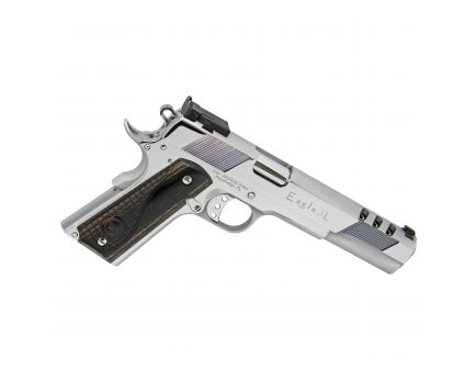 Iver Johnson Arms 1911 Eagle Deluxe .45 ACP Pistol, High Polished Bright Chrome - EAGLEXLC45